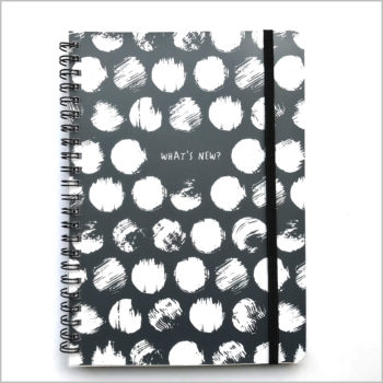 notebook A5 zwart wit