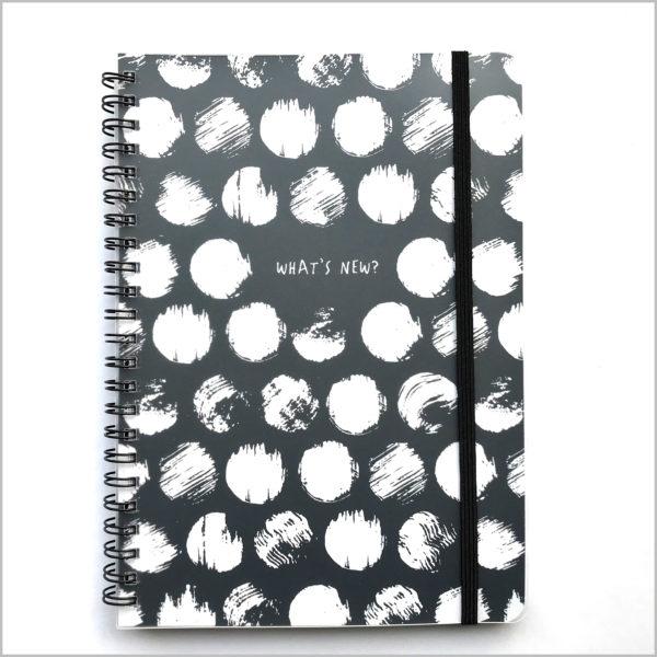 notebook A5 zwart wit